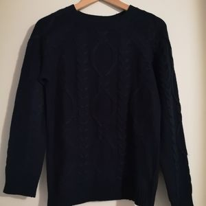Joe Fresh navy cabled sweater
